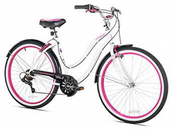 26'' White Multi-Speed Cruiser